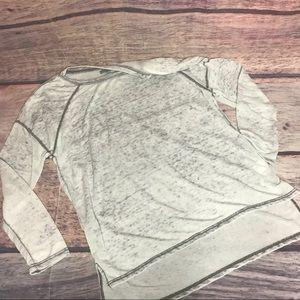 Olivia sky shirt women's large gray oversized